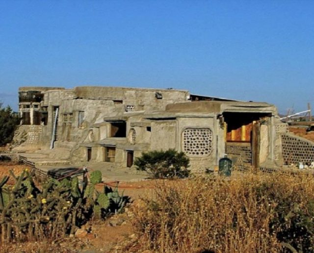 An Unfinished Earthship Home