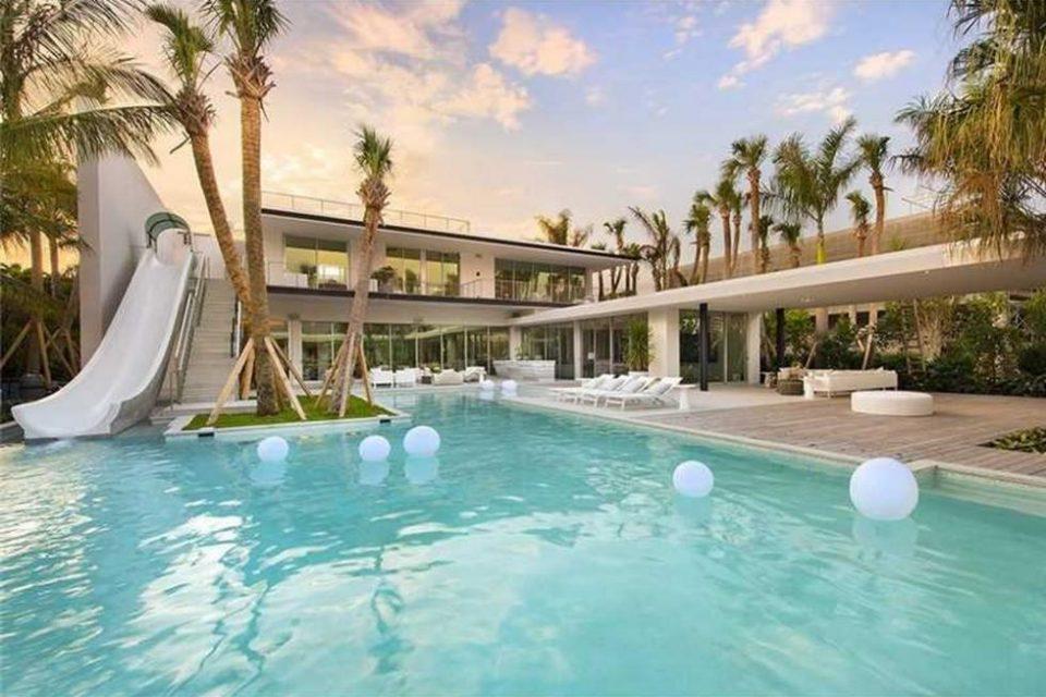 Miami Beach Waterslide Home!