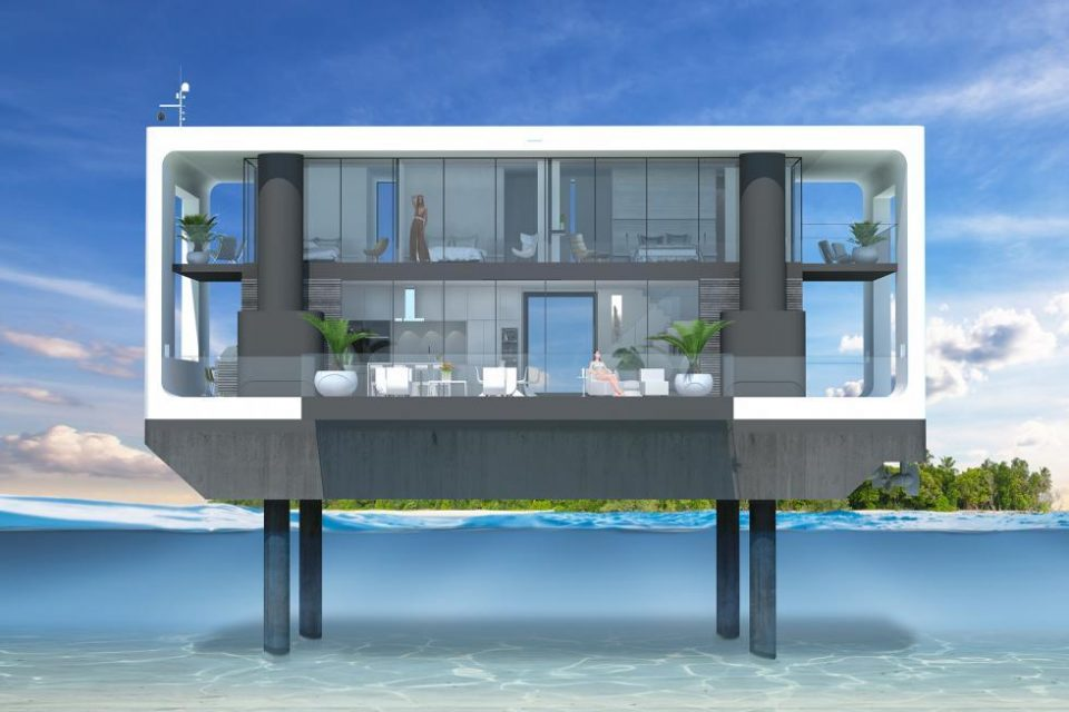Rising Seas & Bigger Hurricanes – No Problem with a Floating Home!