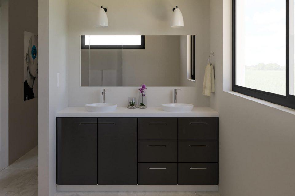modern bathroom sinks in oaks place town home